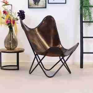 Bronx71 | Vlinderstoel Livin leer
