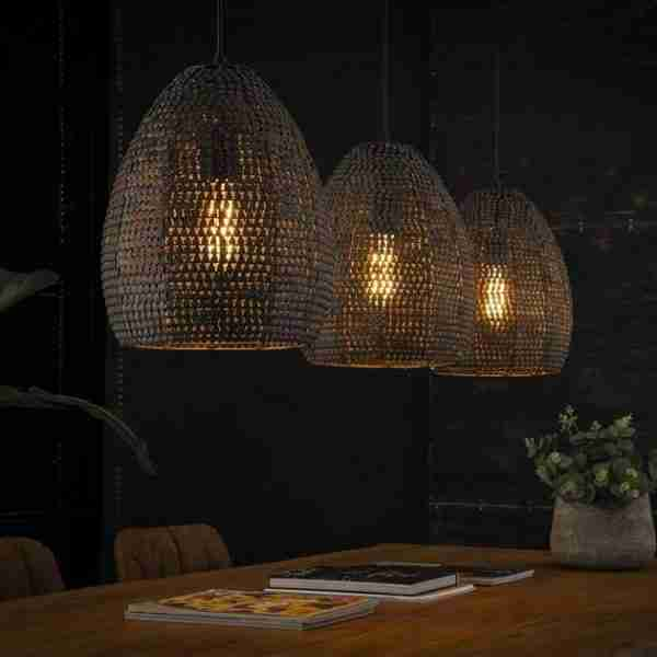 Dimehouse | Hanglamp Armoor 3-lichts ovaal