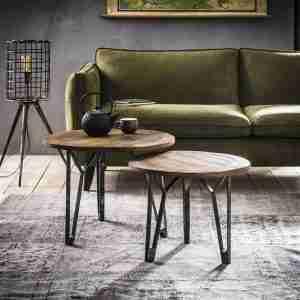 Livin24 | Set van 2 salontafels Bernard